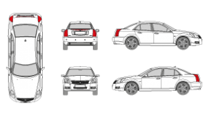Vehicle Template CADILLAC BLS 2005