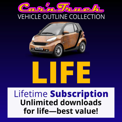 Lifetime Vehicle Templates Subscription